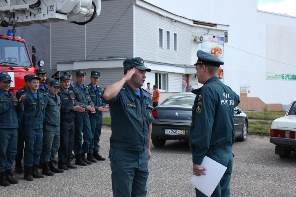 Соревнования пожарных в Йошкар-Оле