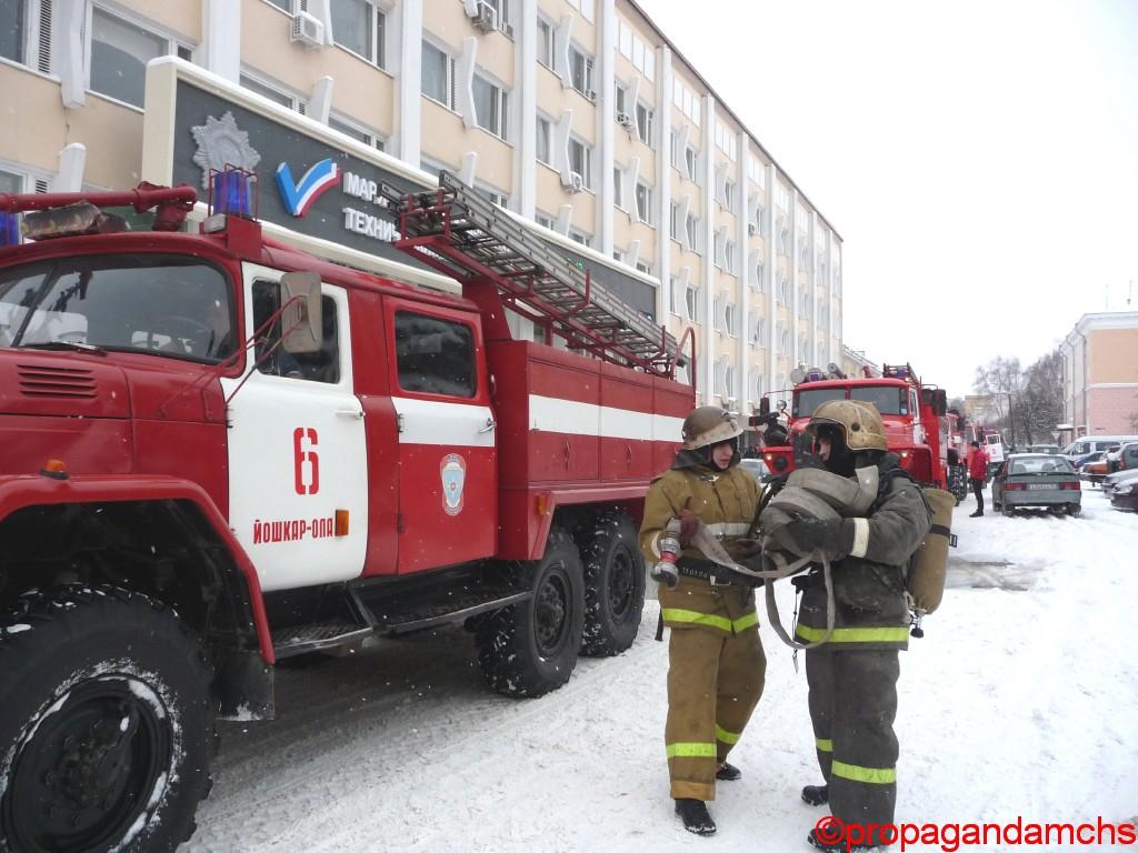 Пожарно-тактические учения в Марийском национальном театре драмы им. М.Шкетана