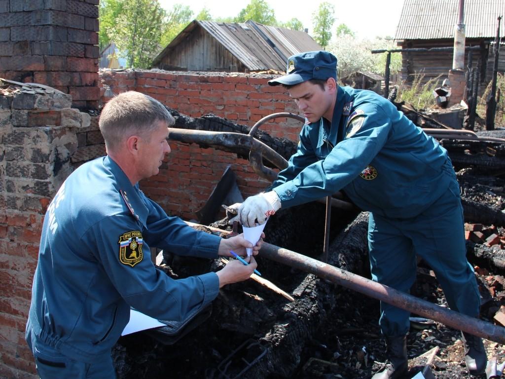 Пожар в д.Прокопьево Советского района