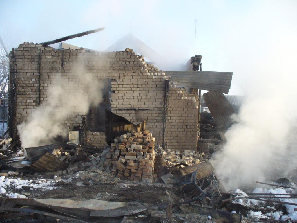 Пожар в д. Ильнетуры (волжский район) 9 января 2013 года