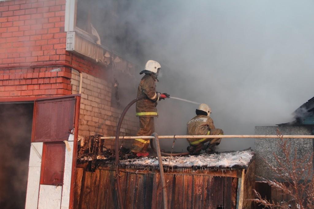 Пожар в г.Йошкар-Оле, в частном доме на ул.Мосолова