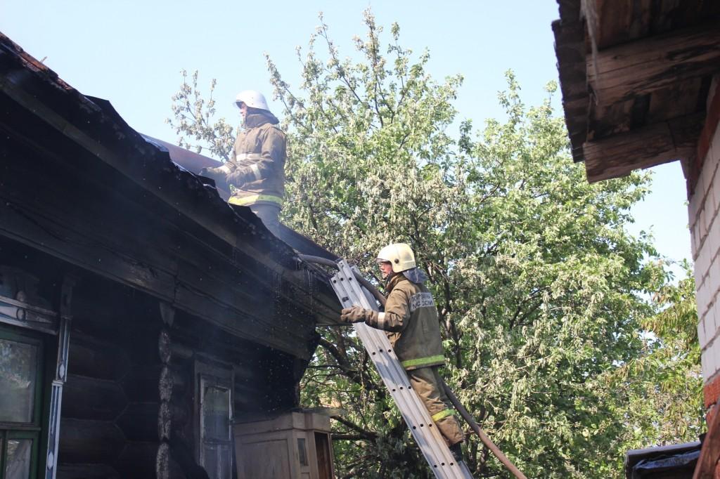 Пожар в пер.Ладыгина в Йошкар-Оле