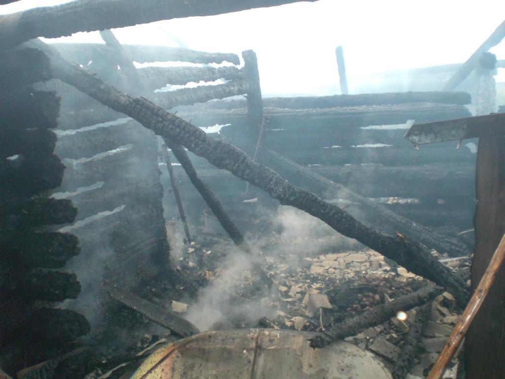 Пожар в поселке Ронга
