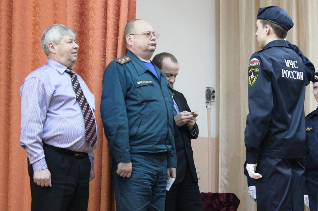 Посвящение в кадеты МЧС десятиклассников шк.№24 г.Йошкар-Олы