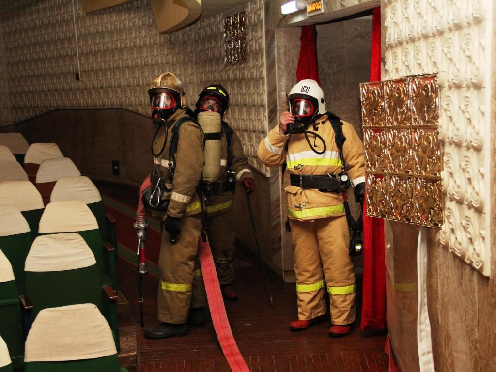 Пожарно-тактическое учение в кукольном театре