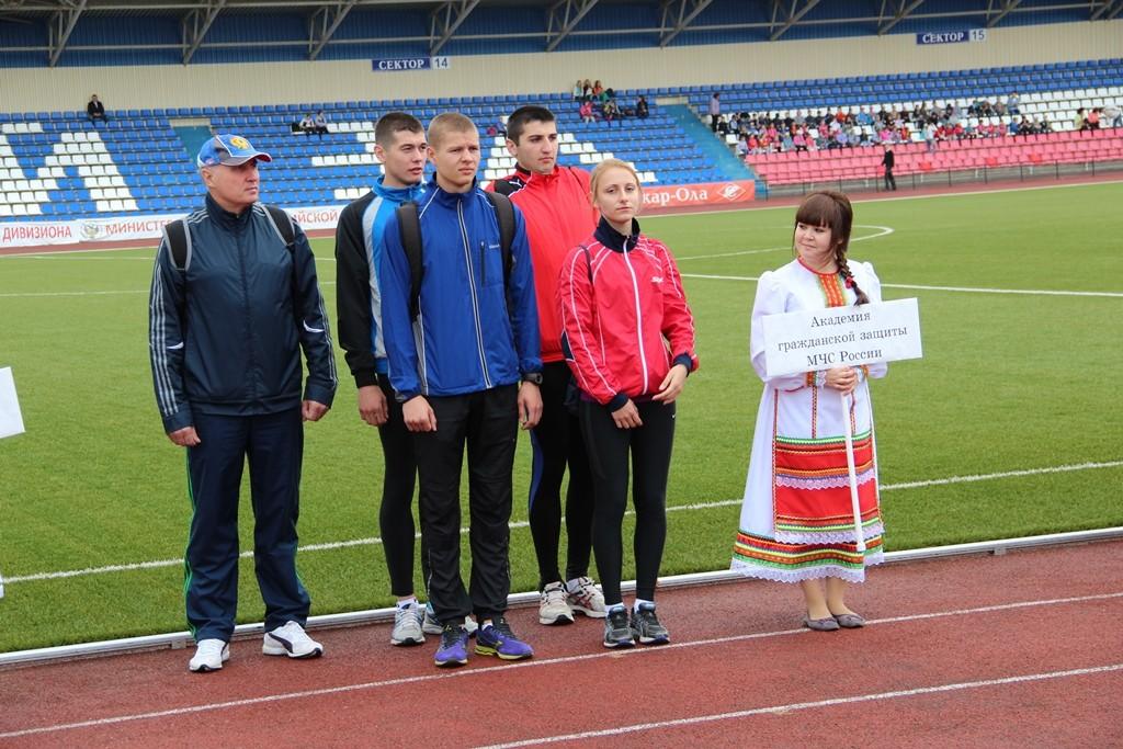 Соревнования по легкой атлетике в рамках Спартакиады МЧС России