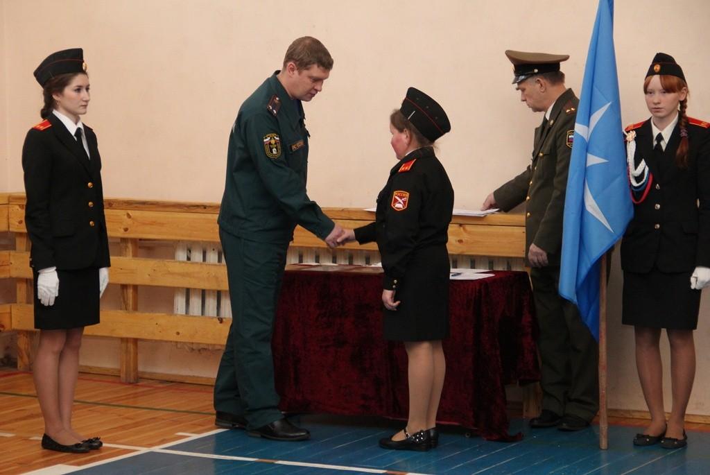 Посвящение в кадеты в школе № 3 г. Йошкар-Олы