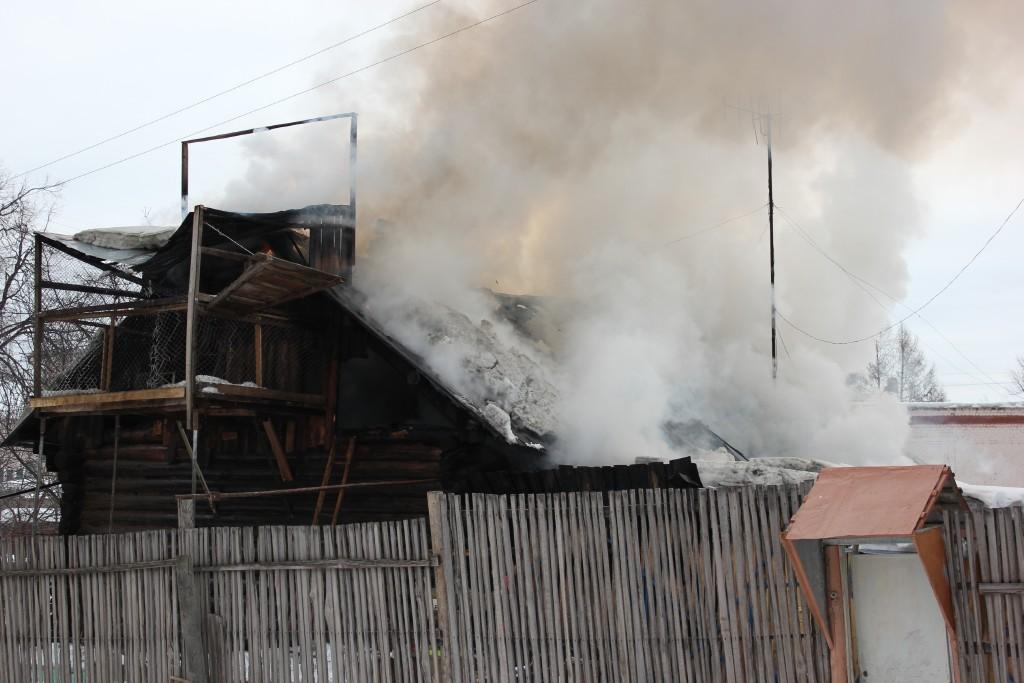 Пожар в Йошкар-Оле, ул.Гомзово