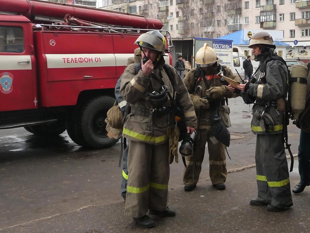 Пожарно-тактические учения на автовокзале