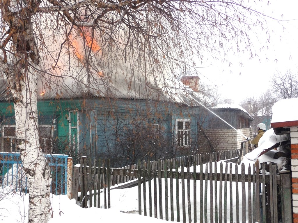 Пожар на улице Октябрьской в городе Йошкар-Оле