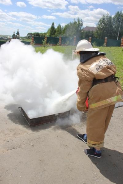 В Православном детском лагере «Солнечная Мордовия» прошло профилактическое мероприятие, посвященное Году пожарной охраны.