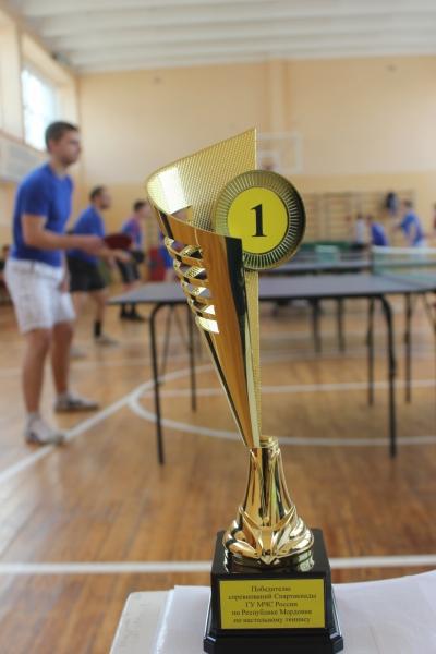 Соревнования по настольному теннису среди пожарных