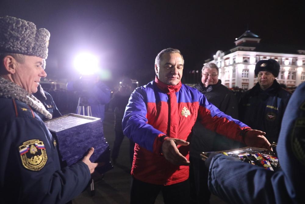 Приезд главы МЧС России