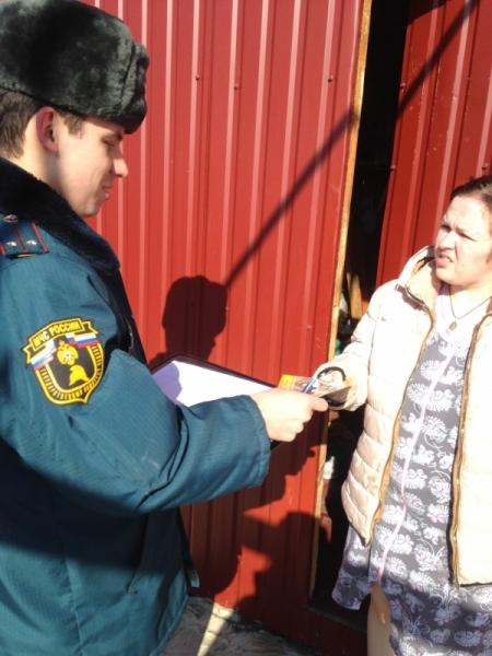 В селе Лямбирь Республики Мордовия сотрудники МЧС осуществили подворный обход.