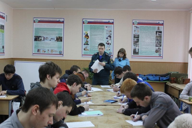 Сбор кандидатов, поступающих в высшие учебные заведения ГПС МЧС России