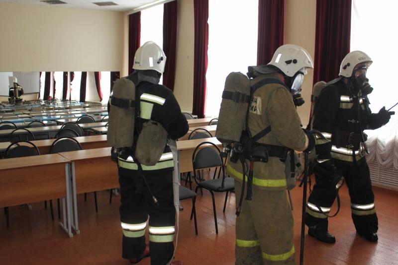 Пожарно-тактическое занятие в общежитии