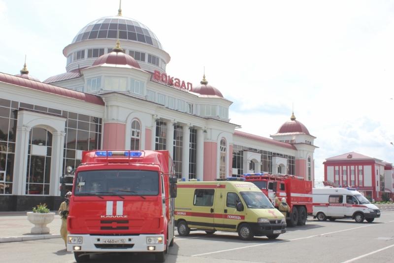Крупное учение на железнодорожном вокзале Саранска