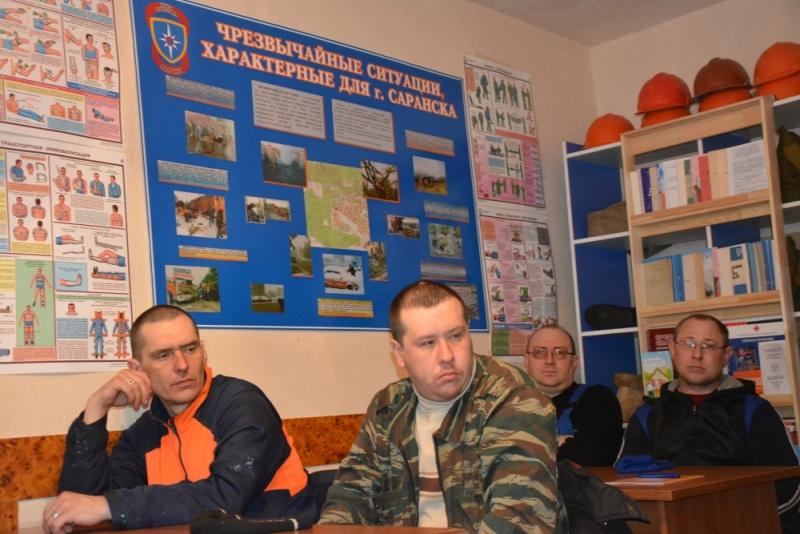 Смотр учебных пунктов по гражданской обороне Саранска