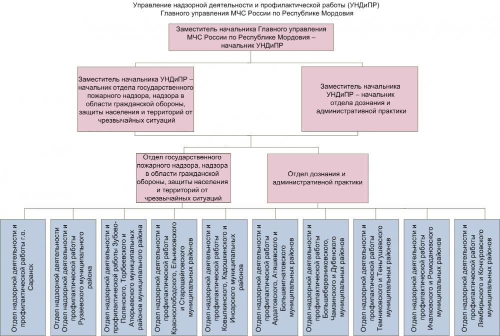 Сведения об управлении надзорной деятельности и профилактической работы.