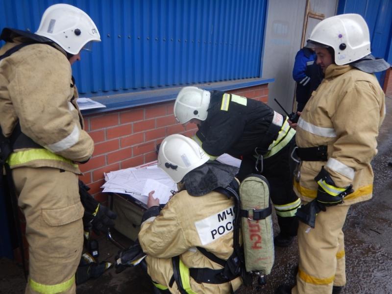 Пожарно-тактические учения на предприятии