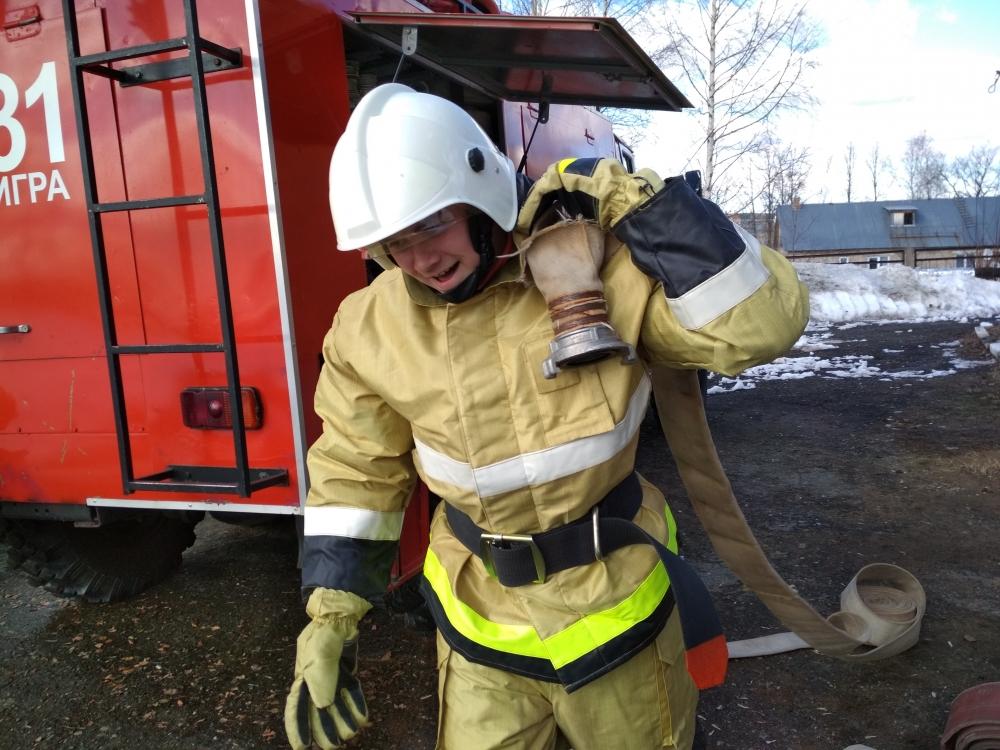 Профориентация: «Один день в пожарно-спасательной части»