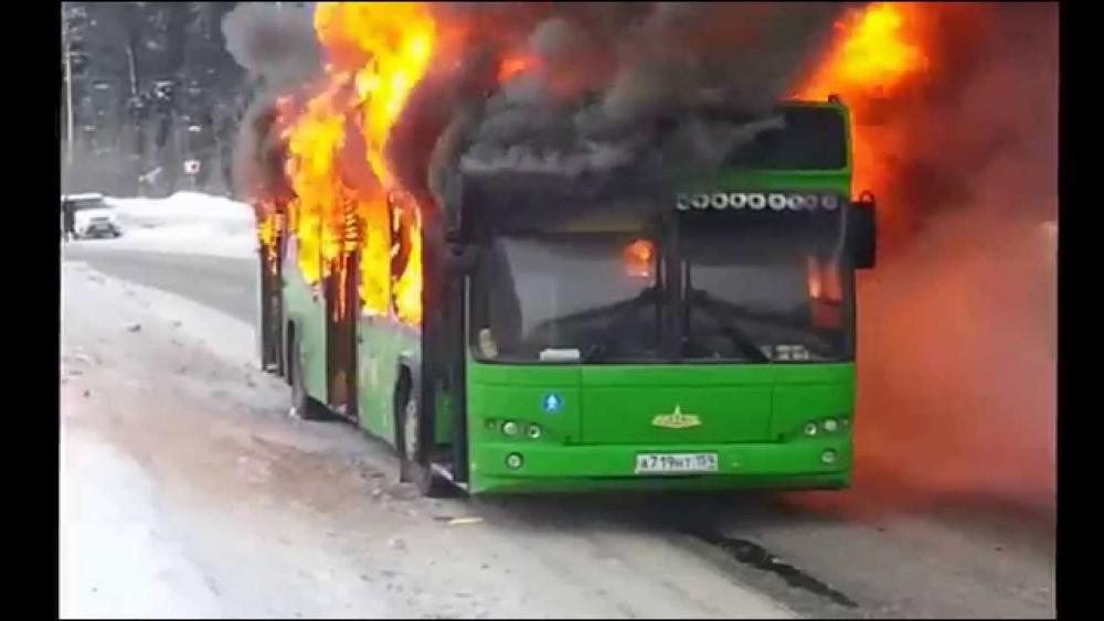 Рекомендации при пожаре в автобусе, троллейбусе или трамвае