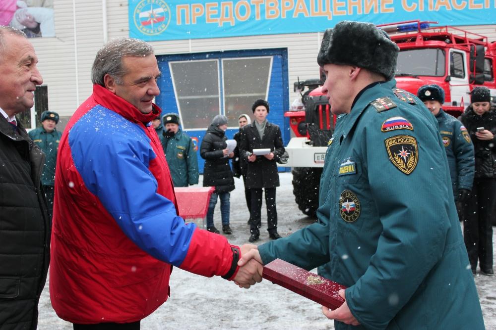 Рабочий визит в Ижевск Министра МЧС России В. Пучкова
