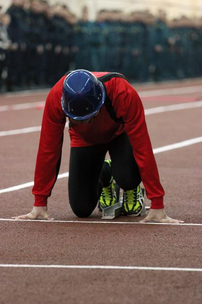 Открытие легкоатлетического манежа