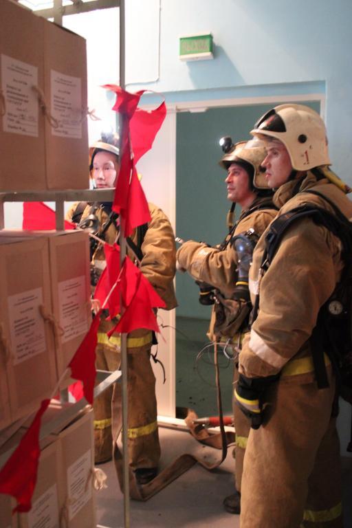 Пожарно-тактическое учение в Центральном архиве