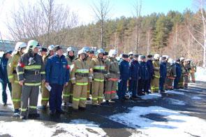 Пожарно-тактическое учение в санатории-профилакторий «Сосновый»