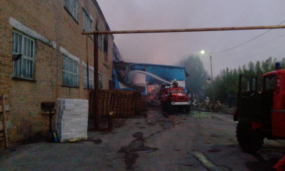 17.08.2016 Ликвидация пожара на Туринском целлюлозно-бумажном заводе