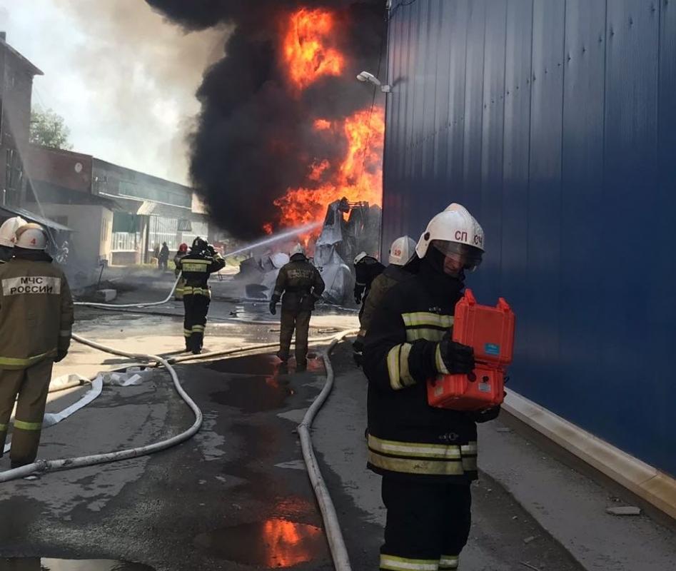 10.07.2018 Ликвидация последствий пожара в складском помещении в г.Екатеринбурге