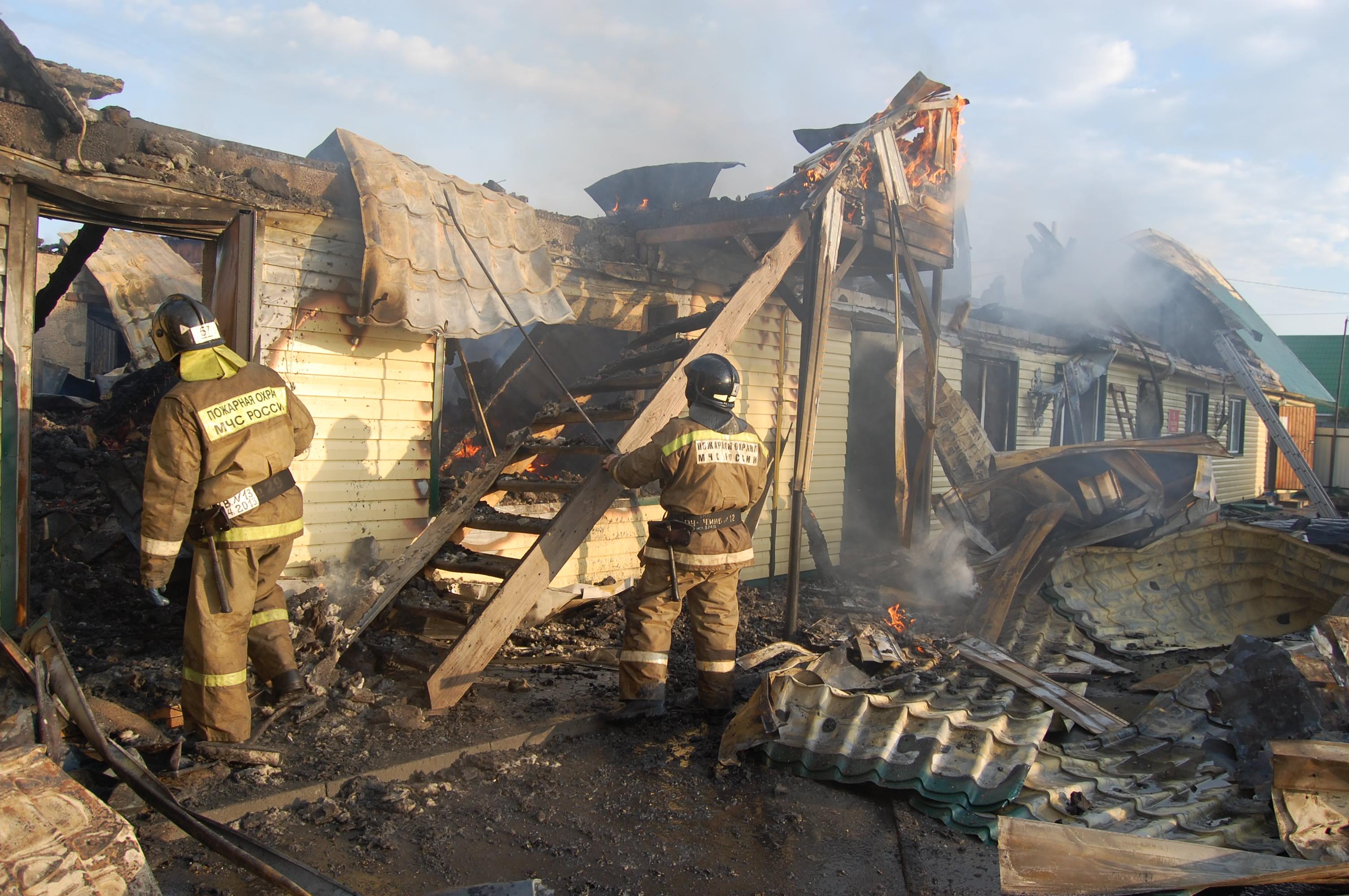 Пожар в г. Тюмень, д.Казарово