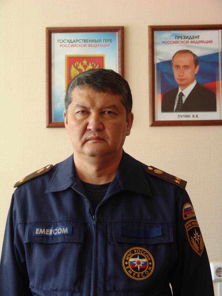 Ветеран пожарной охраны Пуровского района К.К. Омурбаев