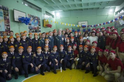 В гимназии № 5 учащиеся кадетского класса МЧС «Юный пожарный» приняли «Клятву кадета»