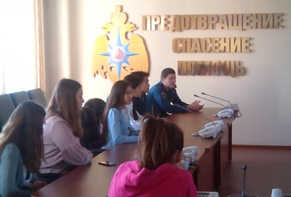 13 апреля 2018 года школьники побывали на экскурсии в Главном управлении МЧС России по Республике Тыва