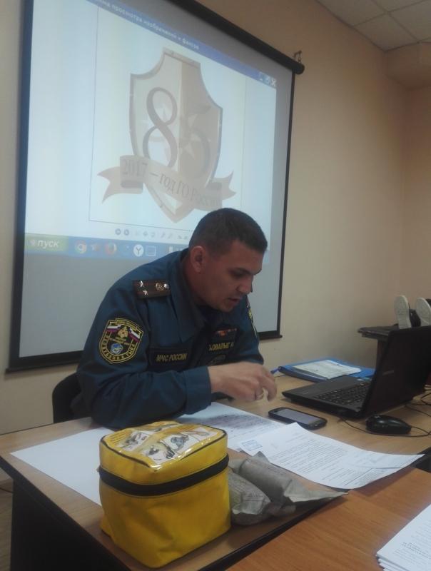 Проведение занятий по гражданской обороне со слушателями Учебно-методического центра ГО и ЧС Республики Тыва