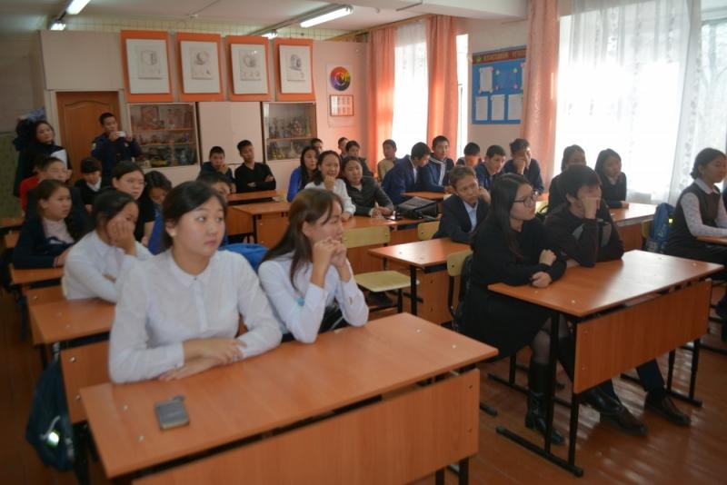 В гимназии № 9 г. Кызыла были проведены заниятия на тему «Пожарная безопасность среди населения»