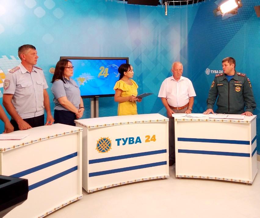 Тува: «Безопасность на водных объектах и дорогах» - тема программы на телеканале «Тува-24» (видеозапись).