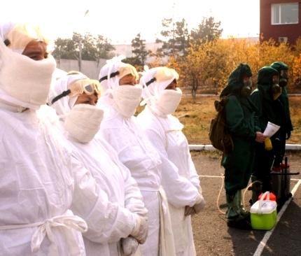 В Туве начался первый этап Всероссийской тренировки по гражданской обороне.