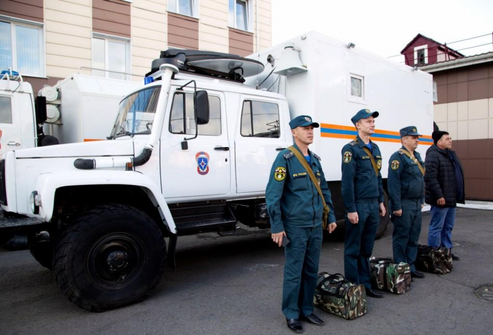Первый день Всероссийской тренировки по гражданской обороне в Туве (ФОТО).