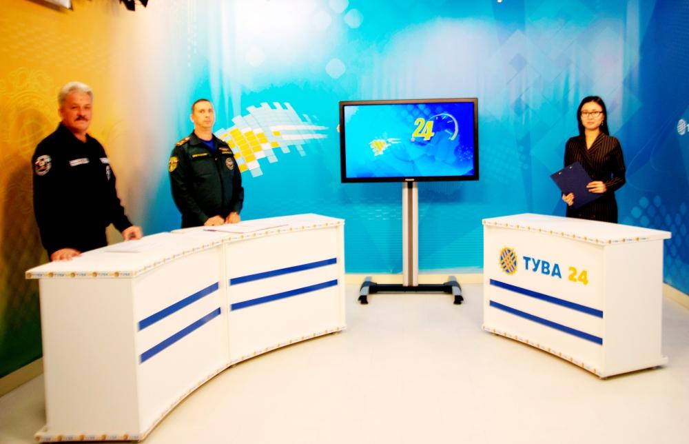 Тува: «4 октября - День образования Гражданской обороны России» - тема программы на телеканале «Тува-24» (видеозапись).