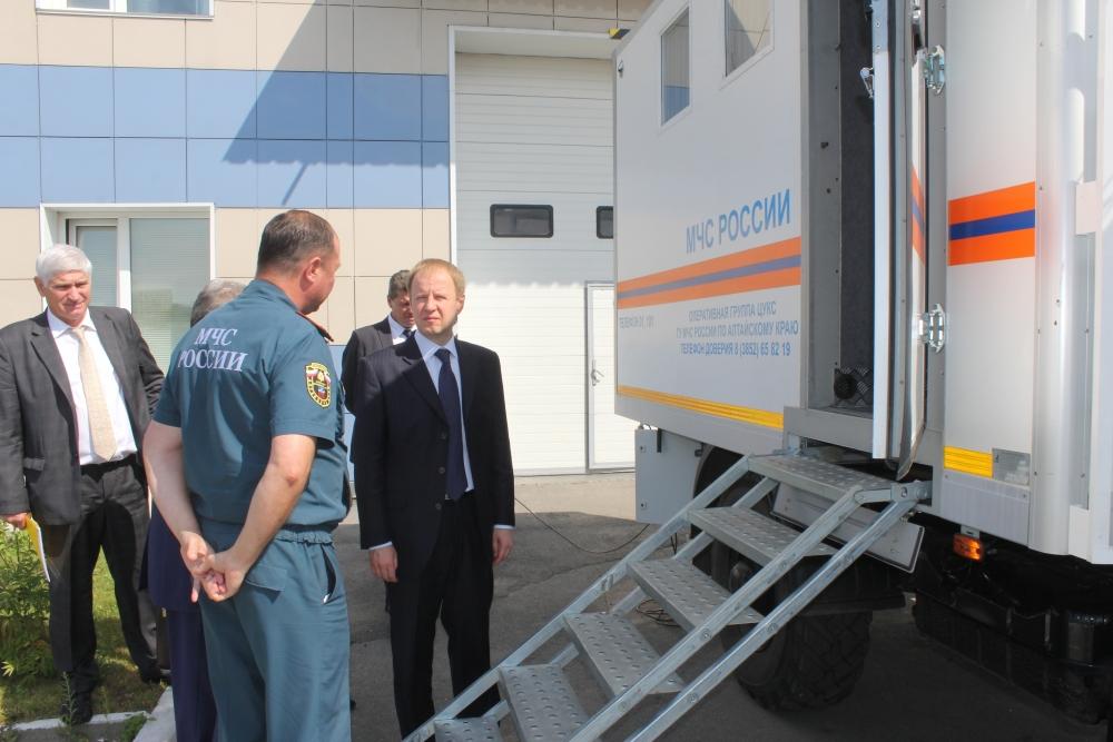 Посещение  ЦУКС ГУ МЧС России по Алтайскому краю