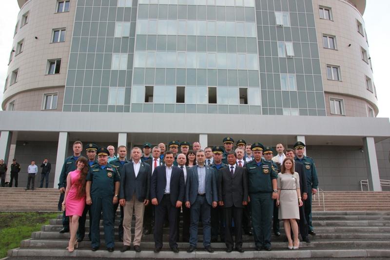 Мероприятия, посвященные окончанию строительства учебно-тренировочного корпуса Национального аэромобильного спасательного учебно-тренировочного центра подготовки горноспасателей и шахтеров