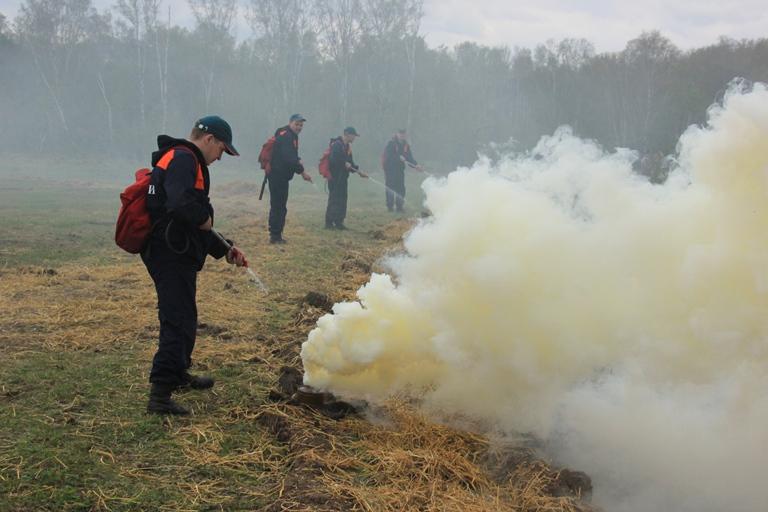 В Кузбассе прошло ежегодное тактико-специальное учение по отработке действий при возникновении природных пожаров