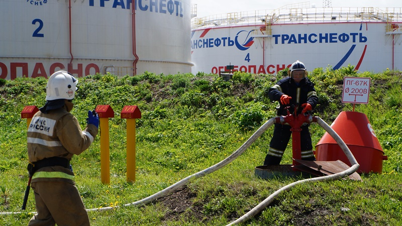Тактико-специальное учение на Анжеро-Судженской линейно-производственной станции