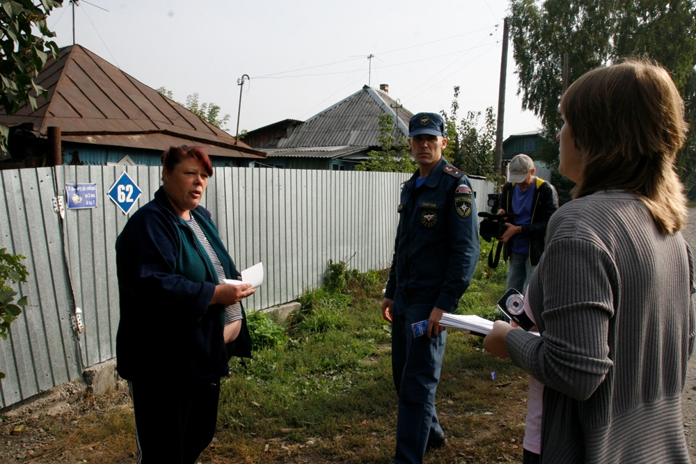 Противопожарный рейд по частному сектору города Кемерово