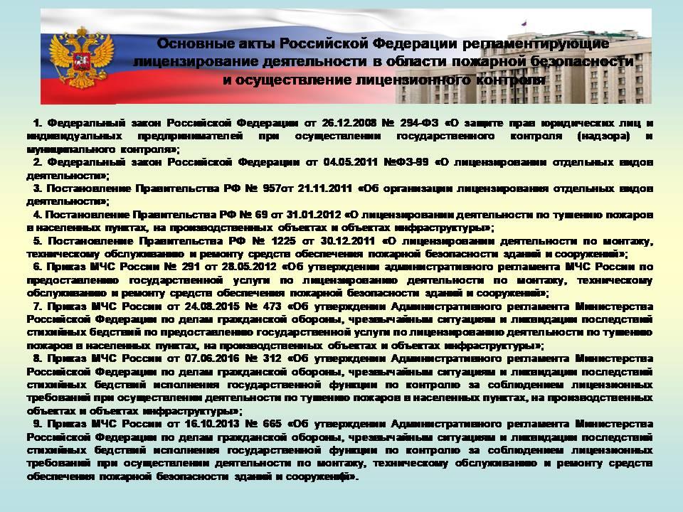 Доклад План (конспект) Практика лицензирования