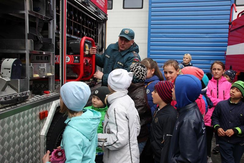 День защиты детей в пожарной части-2018