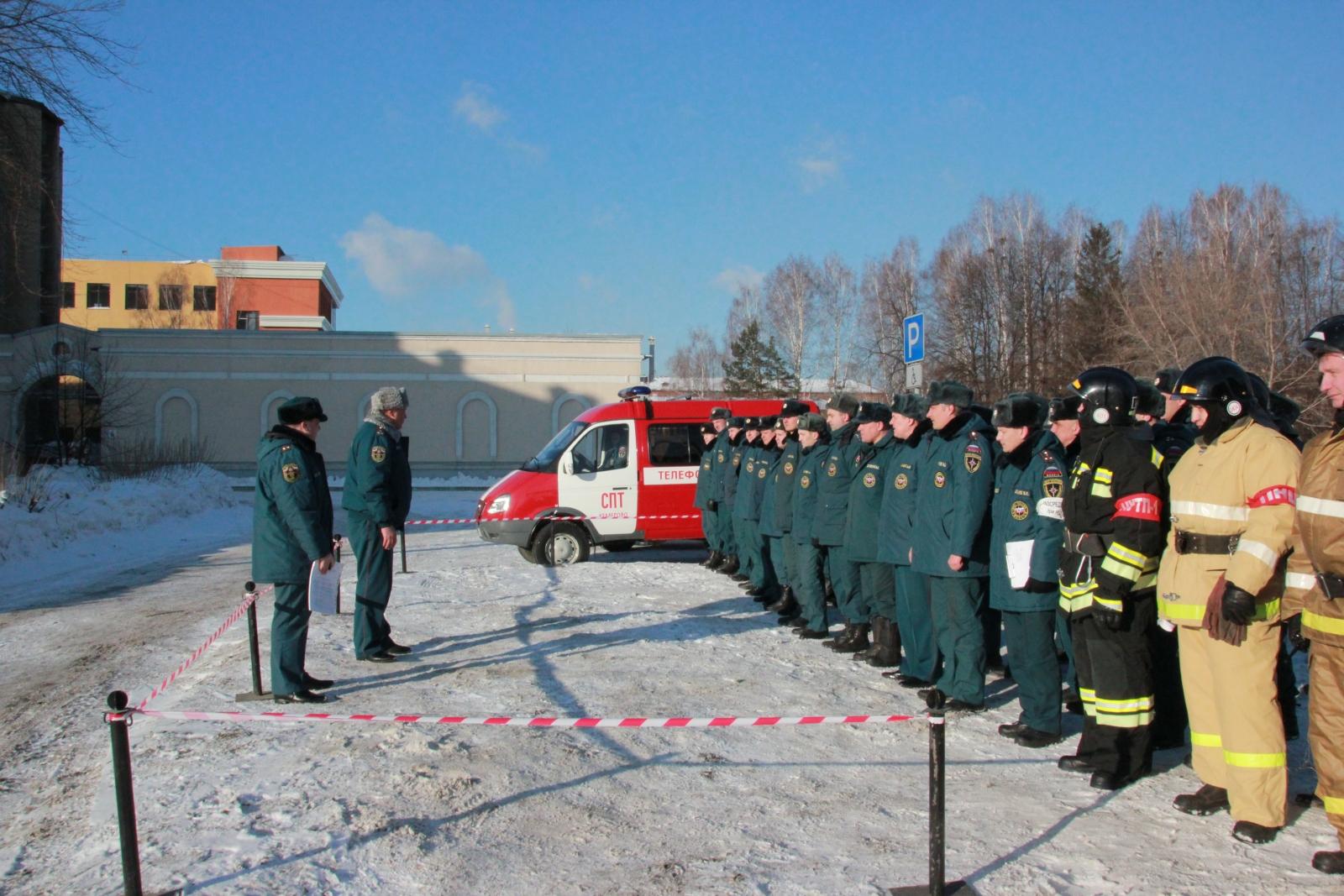 Тренировочное пожарно-тактическое учение на Кемеровской областной научной библиотеке имени В.Д. Федорова